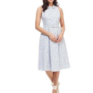 Gal Meets Glam Rose Printed Fit & Flare Midi Dress